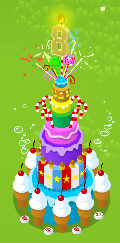Phenomenal 8Th Birthday Cake Animal Jam Wiki Fandom Funny Birthday Cards Online Inifodamsfinfo