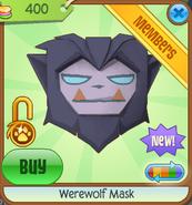 Werewolf Mask new purple