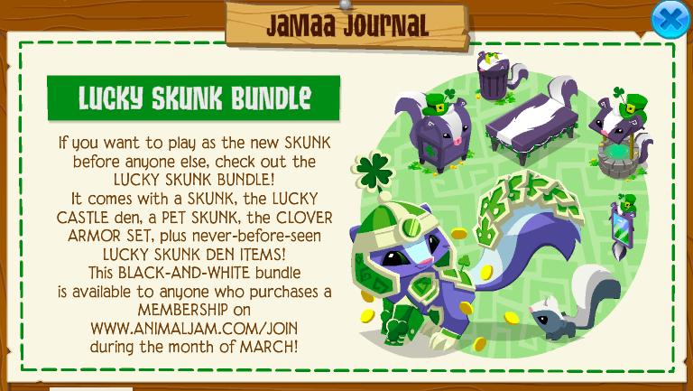Lucky Skunk Bundle Animal Jam Wiki Fandom Powered By Wikia