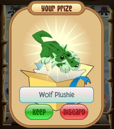 The-Claw Wolf-Plushie Green