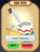 White Head Feather