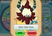 Member-Spin-Gift Rare-Yeti-Face