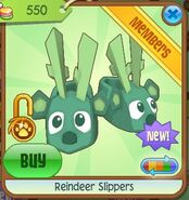 Reindeer slippers green