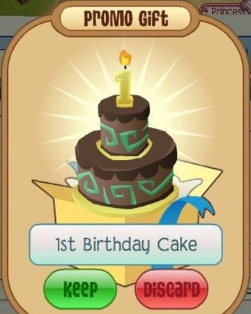 Admirable 1St Birthday Cake Animal Jam Wiki Fandom Personalised Birthday Cards Arneslily Jamesorg
