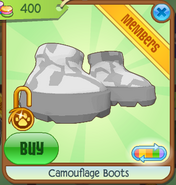 Camouflage Boots White