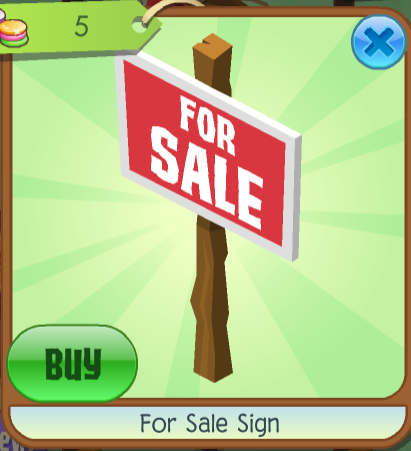 buy for sale sign