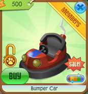Summer-Carnival-Shop Bumper-Car Red-Off