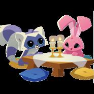 Lemur Bunny dinner party artwork
