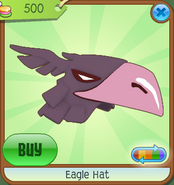 Museum-Shop Eagle-Hat Purple