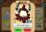 Rare Yeti Face Daily Spin