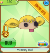 Shop Monkey-Hat Yellow