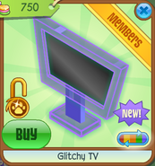 Shop Glitchy-TV Purple