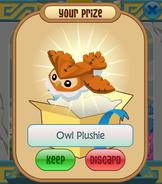 The-Claw Owl-Plushie Orange-Cloud