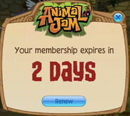 Membership Expires Soon popup