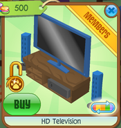 HD Television blue