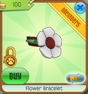 Shop Flower-Bracelet White