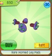 Rare horned leg pads