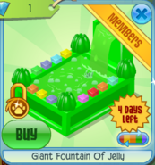 BHS Giant Fountain Of Jelly green