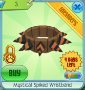 DS Mystical Spiked Wristband orange