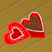 Heart chocolates clicked
