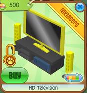 HD Television yellow