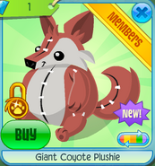 Giant Coyote Plushie 2