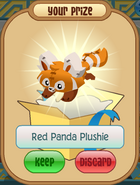 Red panda plushie orange