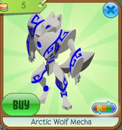 Arctic Wolf Mecha blue