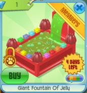 BHS Giant Fountain Of Jelly red