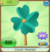 Clover Pinwheel teal