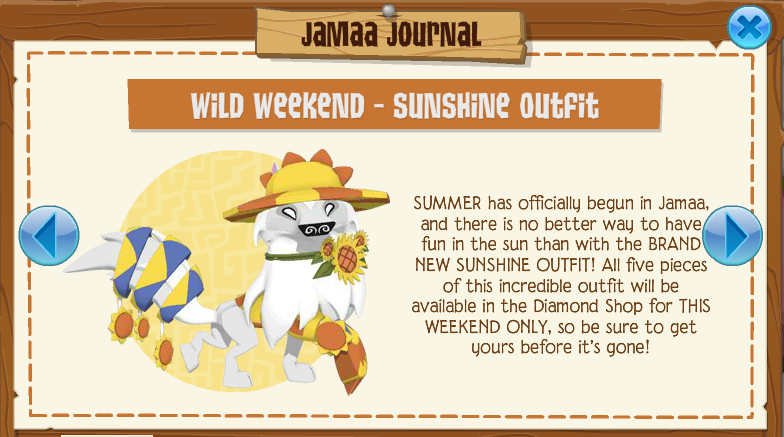 Sunshine Outfit Animal Jam Wiki Fandom Powered By Wikia