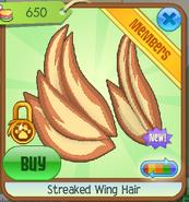 Streaked wing hair4
