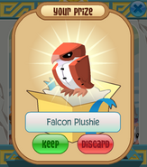 The-Claw Falcon-Plushie Red