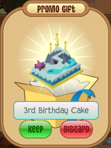 3rd Birthday Cake Animal Jam Wiki FANDOM powered by Wikia