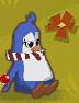 Penguin candy cane tie glitch