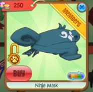 Teal Ninja Mask