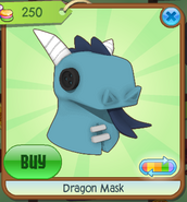 Dragon Mask blue