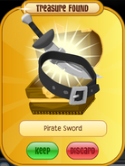 Treasure Pirate-Sword Black