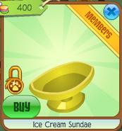 Ice cream sundae clicked