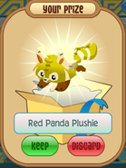 Red panda plushie yellow