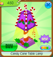 Candy Cane Table Lamp 6