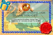 JAG August-Membership-Gift