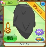 Deer fur (Black-Gray)