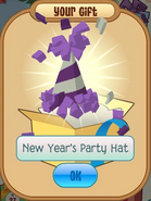 New Year's Party Hat Purple