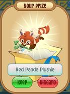 Red panda plushie bamboo