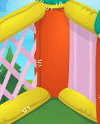 Bounce-House Wavy-Pink-Walls