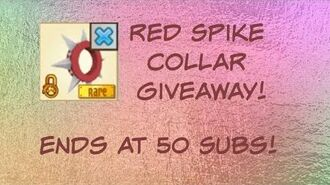ANIMAL JAM RED SPIKE COLLAR GIVEAWAY