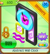 Abstract Wall Clock Black