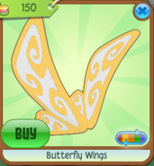 Butterfly Wings yellow