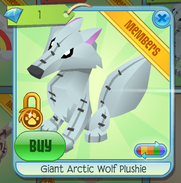 Giant Arctic Wolf Plushie | Animal Jam Wiki | FANDOM powered